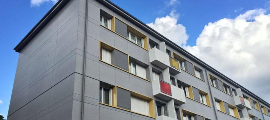 Revetement de facades d'immeubles